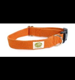 "Earthdog Earthdog Hemp Collar Tangerine Size Small 8""-14"""