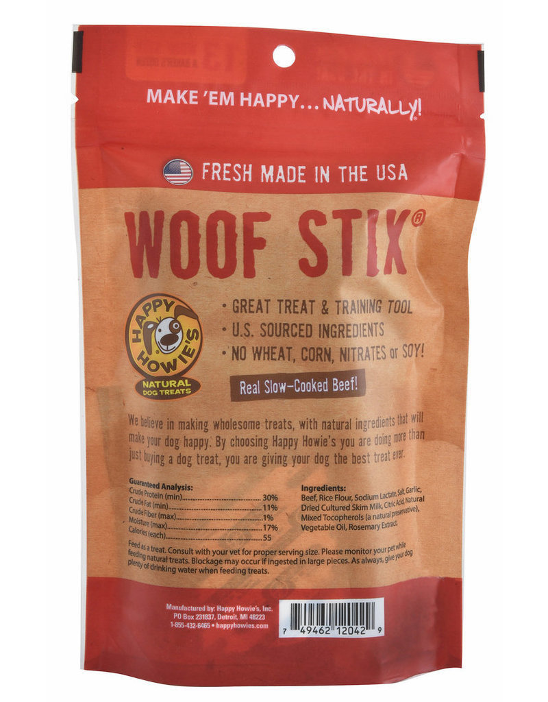 "Happy Howie's Happy Howie's Dog Treats Beef Woof Stix 11"" single"