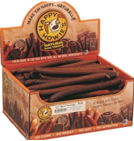 Happy Howie's Happy Howie's Dog Treats CASE Beef Sausages 12""