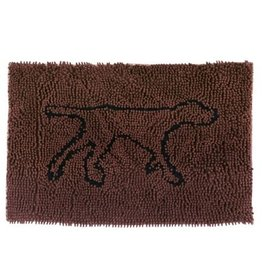 """Tall Tails Tall Tails Wet Paws Mat Brown 35"""" x 26"""" Large"""