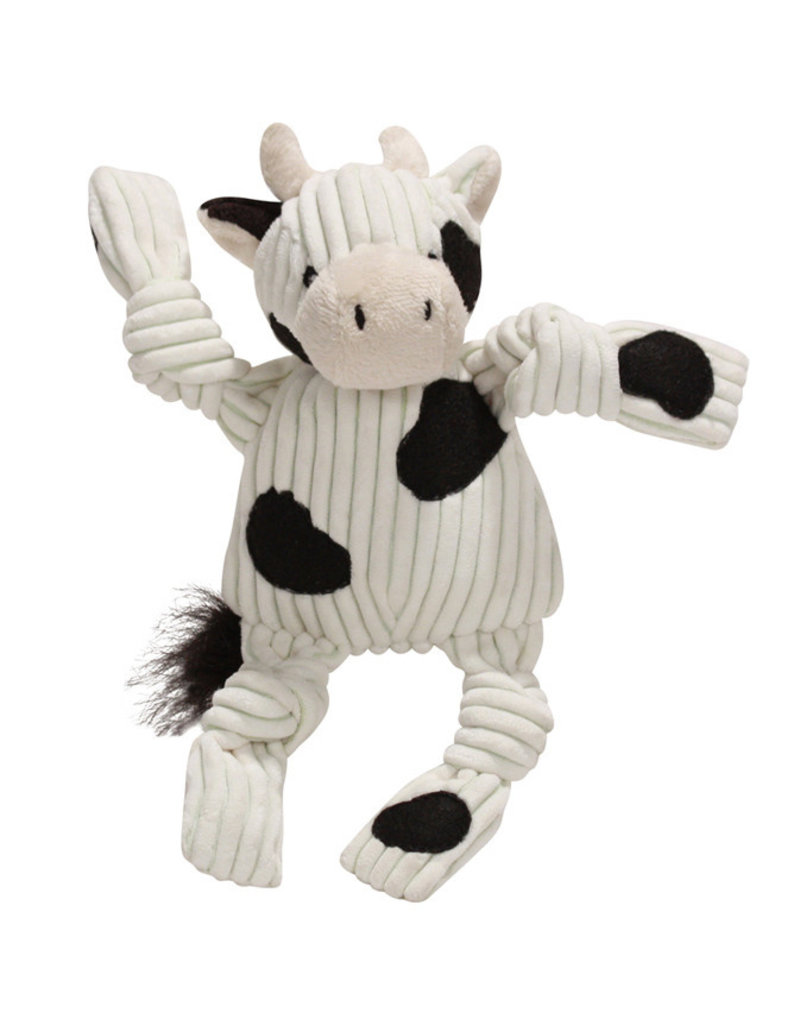 HuggleHounds HuggleHounds Toys Barnyard Cow Knottie Extra Small (XS)/Wee