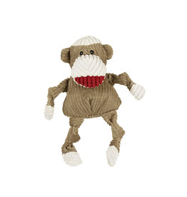 HuggleHounds HuggleHounds Toys Sock Monkey Knottie Small