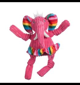 HuggleHounds HuggleHounds Toys Rainbow Elephant Knottie Extra Small (XS)/Wee