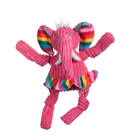 HuggleHounds Huggle Hounds Toys Rainbow Elephant Knottie Small