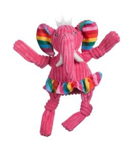 HuggleHounds Huggle Hounds Toys Rainbow Elephant Knottie Large