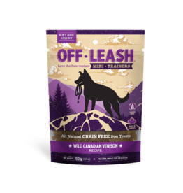 Off Leash Mini Trainers Wild Canadian Venison 14.1 oz