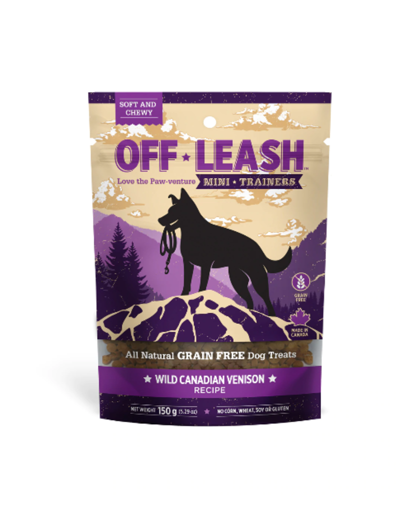 Off Leash Mini Trainers Wild Canadian Venison 14.1 oz