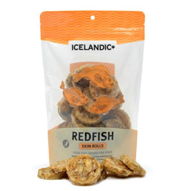 IcelandicPLUS Icelandic+ Dog Treats Redfish Skin Rolls 3 oz