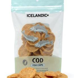 IcelandicPLUS Icelandic+ Dog Treats Cod Fish Chips 2.5 oz