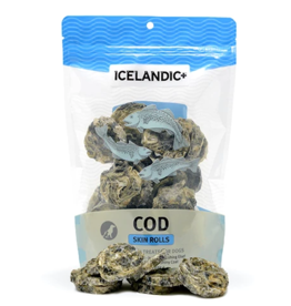 IcelandicPLUS Icelandic+ Dog Treats Cod Skin Rolls 3 oz CASE