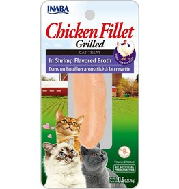 Inaba Inaba Fillets Cat Treats Chicken in Shrimp Broth .9 oz single