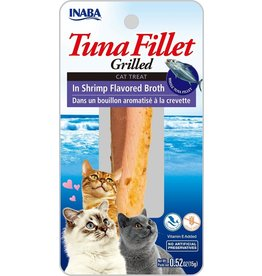 Inaba Inaba Fillets Cat Treats Tuna in Shrimp Broth 0.52 oz single