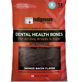 Indigenous Dog Treats Health Bones Smoked Bacon Flavor 17 oz