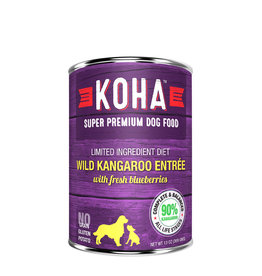 Koha Koha Canned Dog Food CASE Kangaroo Entree 13 oz
