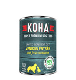 Koha Koha Canned Dog Food CASE Venison Entree 13 oz