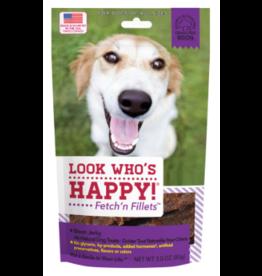 Look Who's Happy Fetch'n Fillets Bison 3 oz