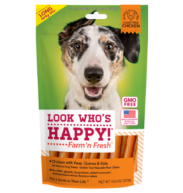 Look Who's Happy Farm'n Fresh Chicken, Peas, Quinoa, & Kale Long Jerky Sticks 10oz