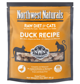 Northwest Naturals Northwest Naturals Cat Duck Raw Frozen Nib 2 Lb