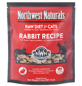 Northwest Naturals Northwest Naturals Cat Rabbit Raw Frozen Nib 2 Lb (*Frozen Products for Local Delivery or In-Store Pickup Only. *)