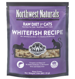 Northwest Naturals Northwest Naturals Cat WhiteFish Raw Frozen Nib 2 Lb (*Frozen Products for Local Delivery or In-Store Pickup Only. *)
