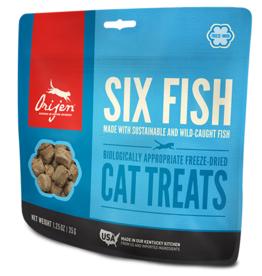 Champion Pet Foods Orijen Freeze Dried Cat Treats Six Fish 1.25 oz