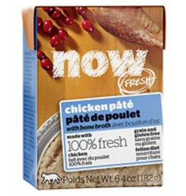 Petcurean NOW Cat Grain-Free Pate CASE Chicken 6.4 oz