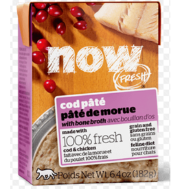 Petcurean NOW Cat Grain-Free Pate CASE Cod 6.4 oz