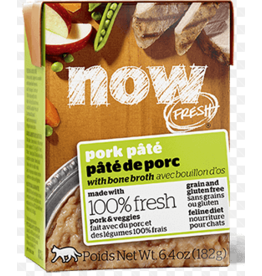 Petcurean NOW Cat Grain-Free Pate CASE Pork 6.4 oz