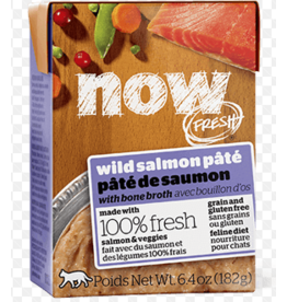 Petcurean NOW Cat Grain-Free Pate CASE Salmon 6.4 oz