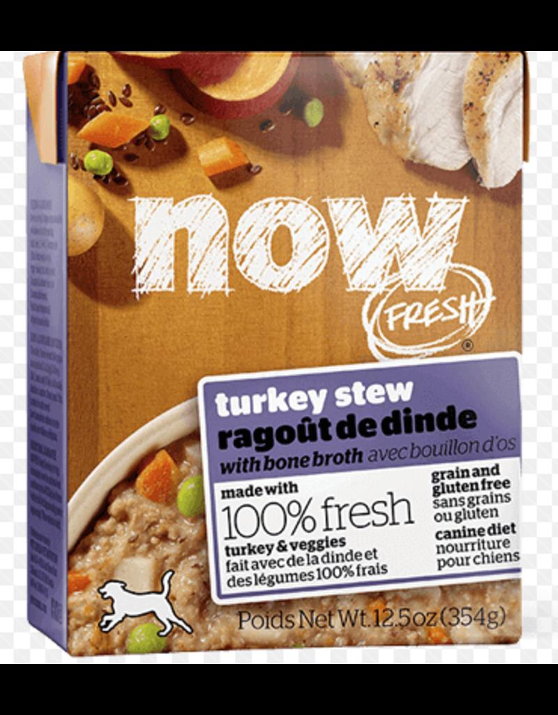 Petcurean NOW Dog Grain-Free Stew CASE Turkey 12.5 oz