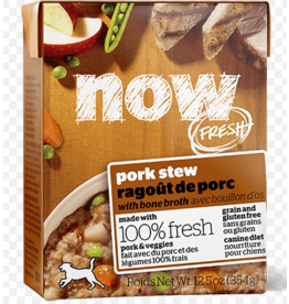 Petcurean NOW Dog Grain-Free Stew CASE Pork 12.5 oz