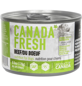 Petkind Petkind Canada Fresh Canned Dog Food CASE Beef 6 oz