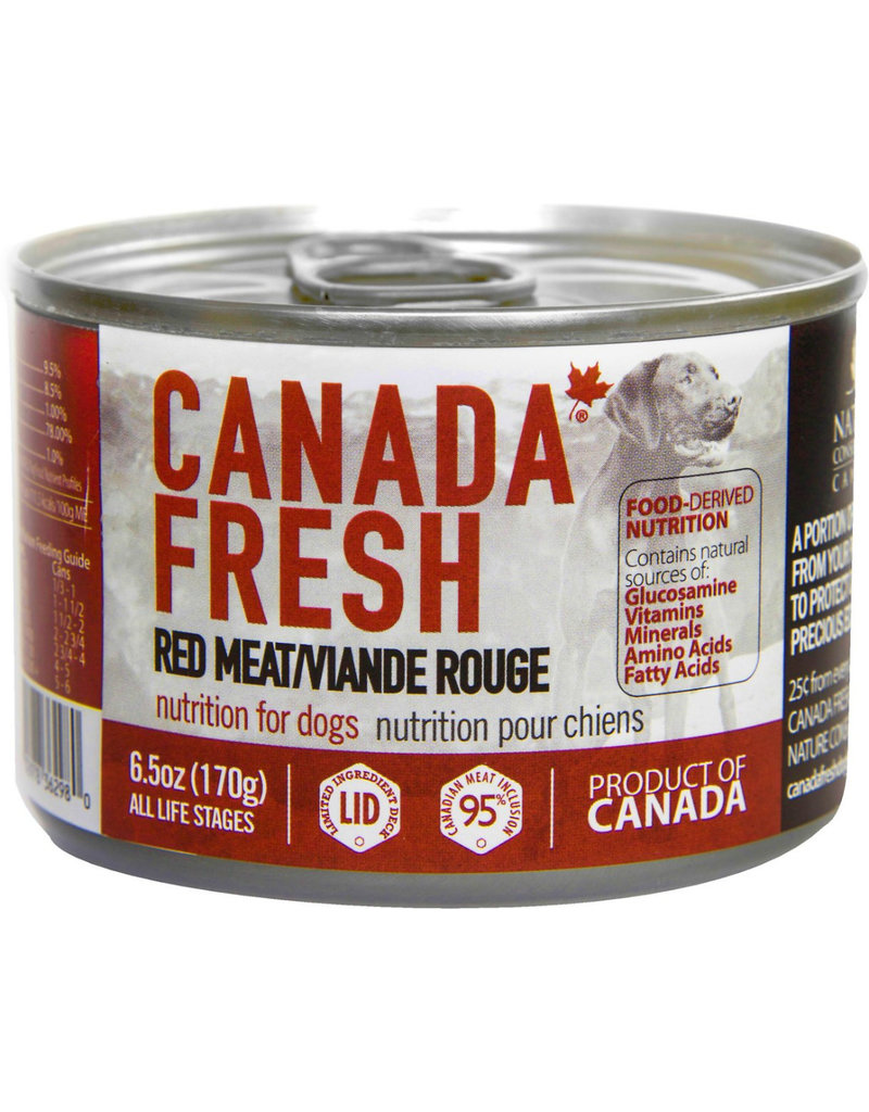 Petkind Petkind Canada Fresh Canned Dog Food CASE Red Meat 6 oz