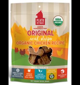 Plato Plato Dog Jerky Treats Organic Chicken Strips 16 oz