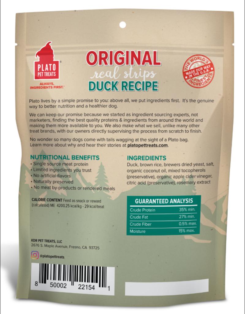 Plato Plato Dog Jerky Treats Organic Duck Strips 6 oz