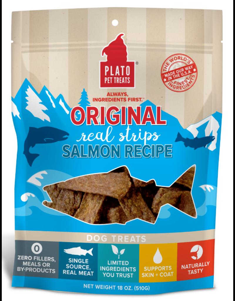 Plato Plato Dog Jerky Treats Organic Salmon Strips 6 oz