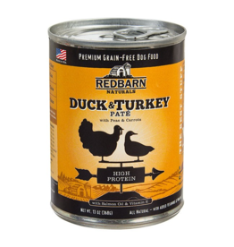 Red Barn Z Red Barn Canned Dog Food CASE Duck & Turkey Pate High Protein 13 oz