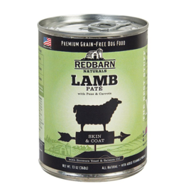 Red Barn Red Barn Canned Dog Food CASE Lamb Pate Skin & Coat 13 oz