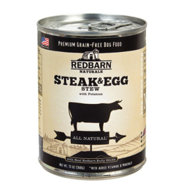 Red Barn Red Barn Canned Dog Food CASE Steak & Egg Stew 13 oz