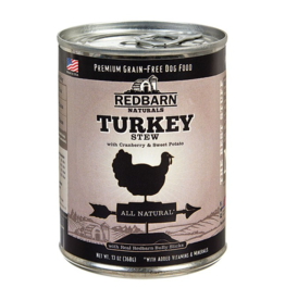 Red Barn Red Barn Canned Dog Food CASE Turkey Stew 13 oz