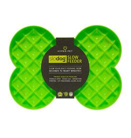 Hyper Pet SloDog Bone-Shape Feeder Green