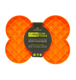 Hyper Pet SloDog Bone-Shape Feeder Orange