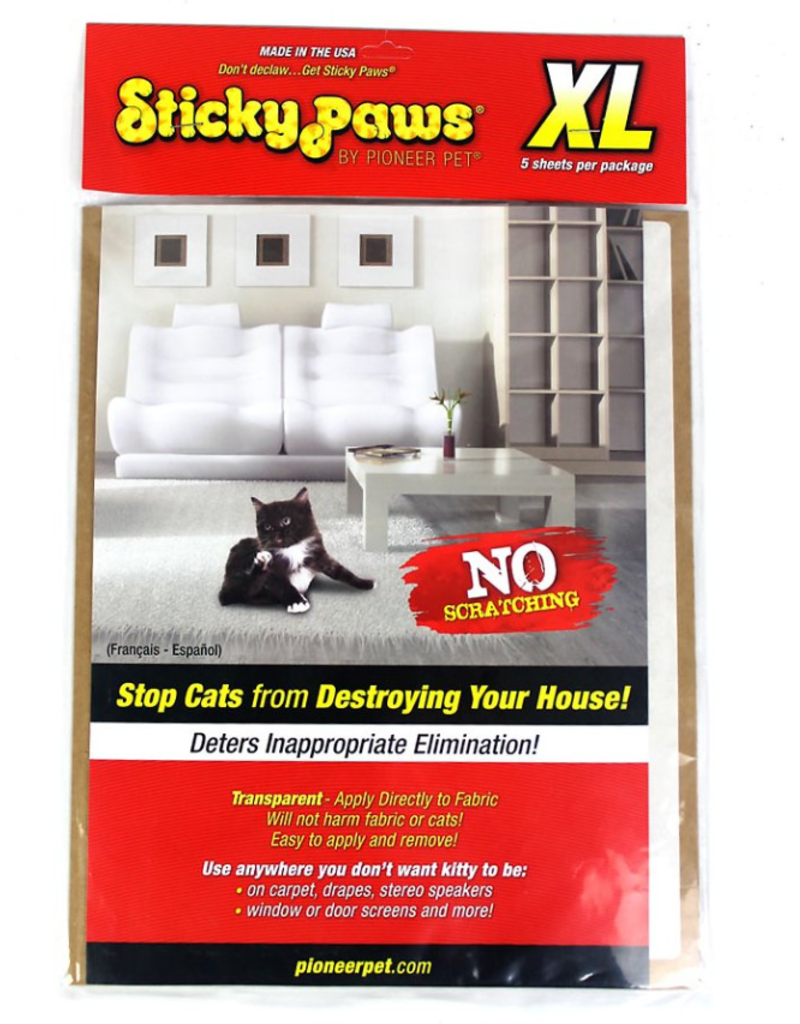 SmartCat SmartCat Sticky Paws Furniture Protection Sheets XL 5 ct