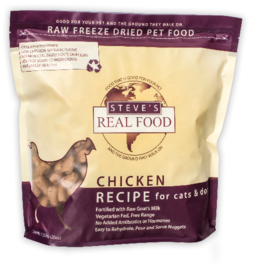 Steve's Real Food Freeze Dried Dog Food Chicken 20 oz