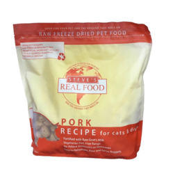 Steve's Real Food Freeze Dried Dog Food Pork 20 oz