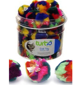 "Turbo Turbo Cat Toys Crinkle Ball 2.5"" single"