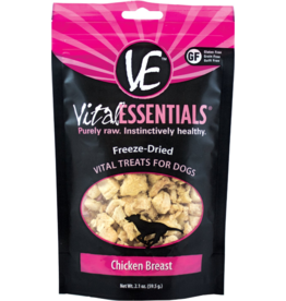 Vital Essentials Vital Essentials Freeze Dried Dog Treats  Chicken Breast 2.1 oz