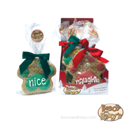 "Bosco and Roxy's Bosco & Roxy's Holiday 2019 | Prepackaged Naughty or Nice 4"" Paws"