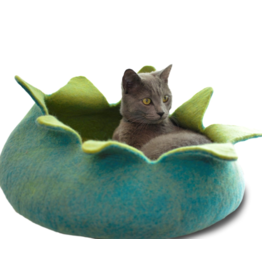 Distinctly Himalayan Distinctly Himalayan Felt Pet Basket Petals Aqua & Green Small 14 in