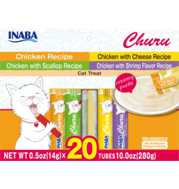 Inaba Inaba Variety Pack Chicken Churu 10 oz 20 pk